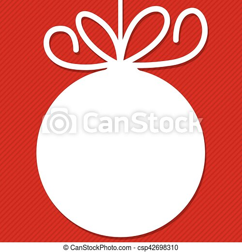 Funky Christmas bauble tag in vector format. - csp42698310