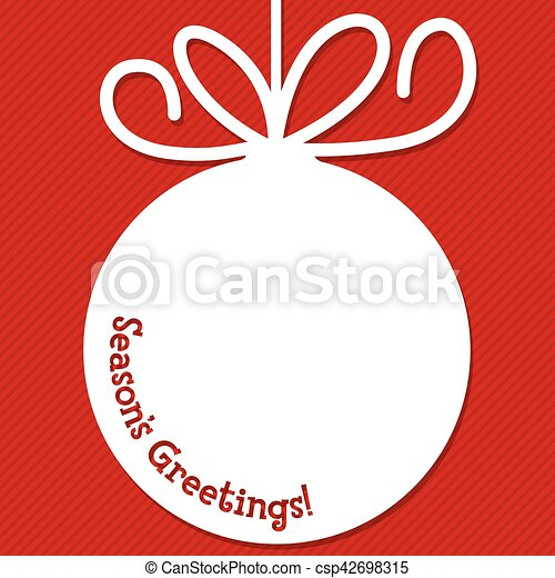 Funky Christmas bauble tag in vector format. - csp42698315