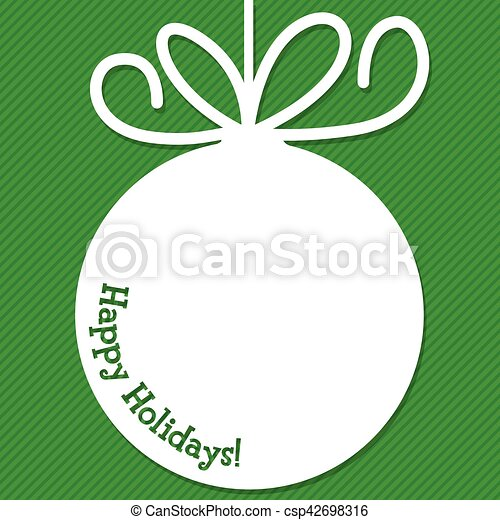 Funky Christmas bauble tag in vector format. - csp42698316