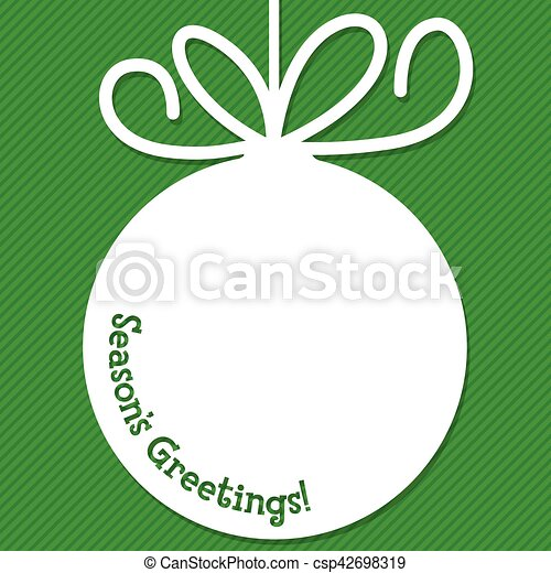 Funky Christmas bauble tag in vector format. - csp42698319