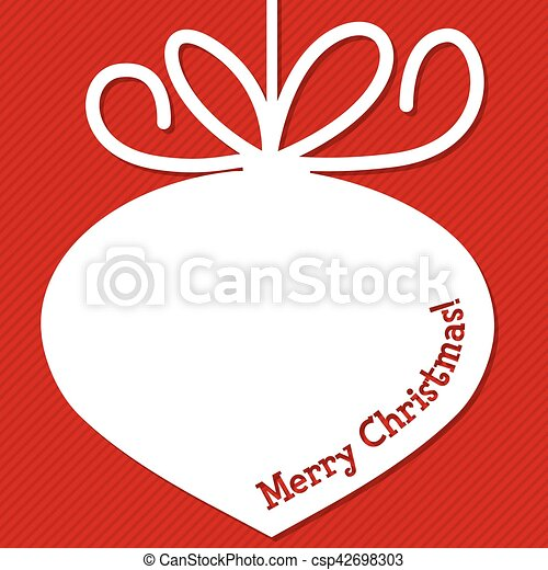 Funky Christmas bauble tag in vector format. - csp42698303