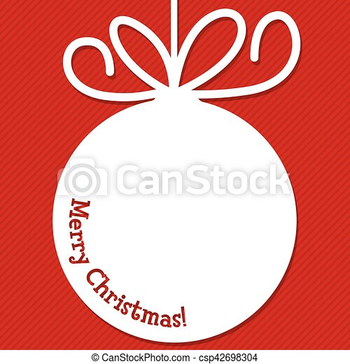 Funky Christmas bauble tag in vector format. - csp42698304
