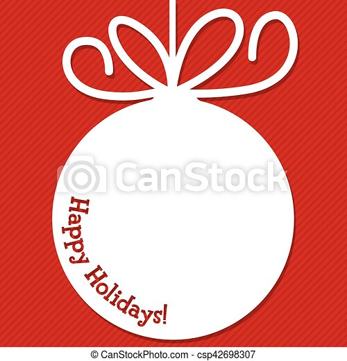 Funky Christmas bauble tag in vector format. - csp42698307