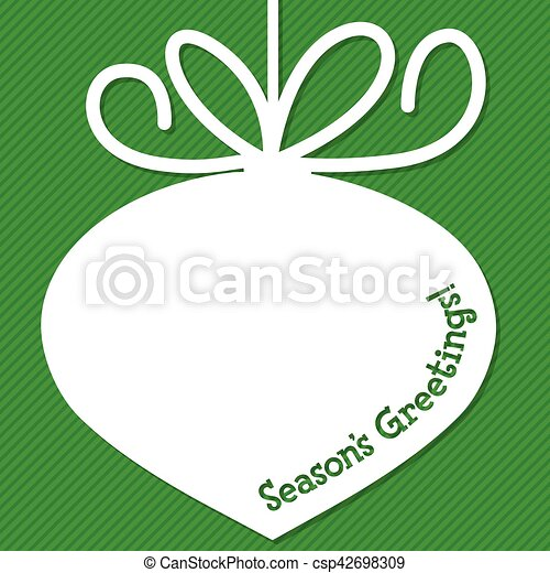 Funky Christmas bauble tag in vector format. - csp42698309