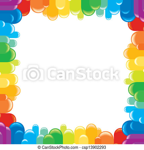 Funky Colorful Frame. Vector Illustration - csp13902293