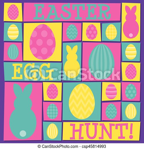 Funky Easter card in vector format. - csp45814993