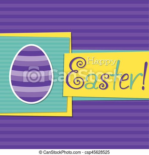 Funky Easter egg card in vector format. - csp45628525