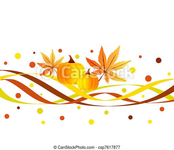 Funky fall design - csp7617877