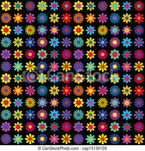 Funky floral pattern - csp13130159