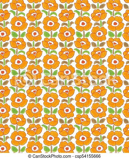 funky floral wallpaper