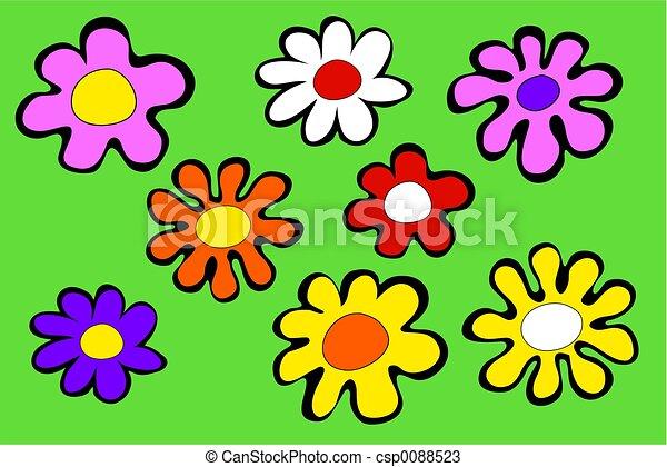 Funky Flowers - csp0088523