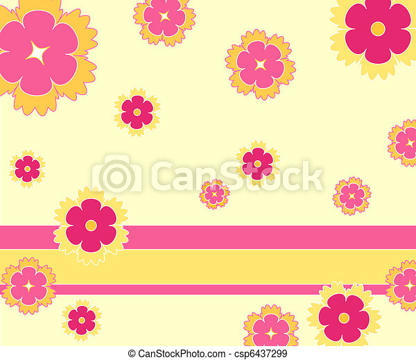 Funky flowers - csp6437299