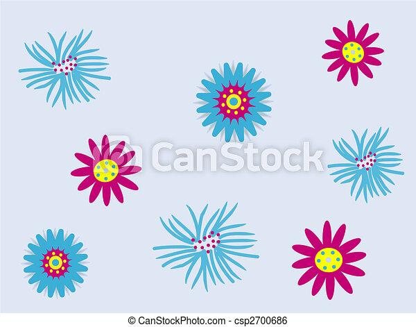 Funky flowers - csp2700686