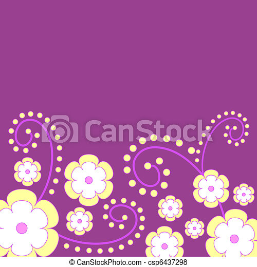 Funky flowers - csp6437298