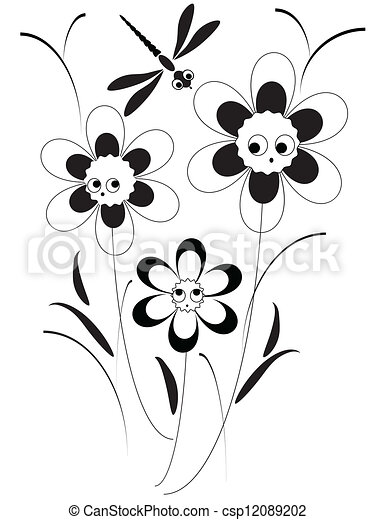 Funky flowers - csp12089202
