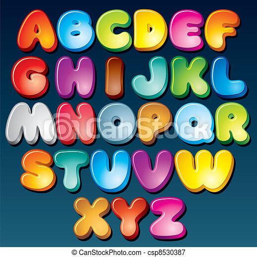 Funky Font - csp8530387