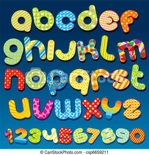 Funky Font - csp6659211