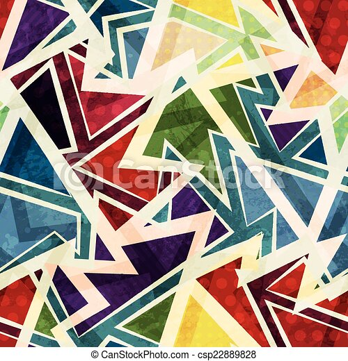funky geometric seamless pattern - csp22889828