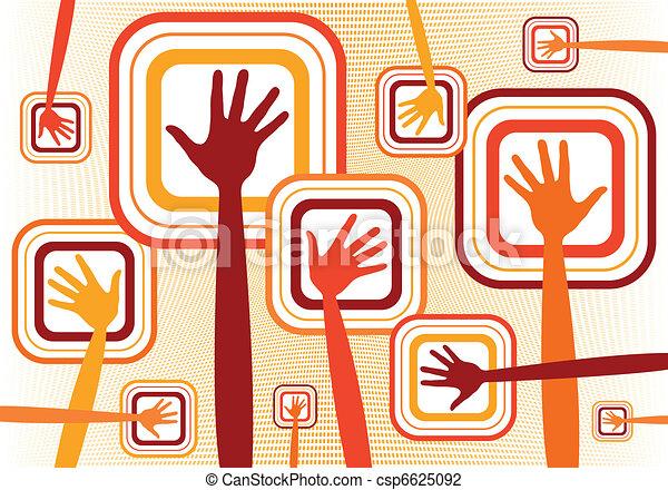 Funky hands design.  - csp6625092