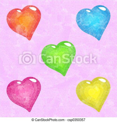 funky hearts - csp0350357