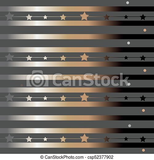 Funky Pattern with glittering stripes - csp52377902
