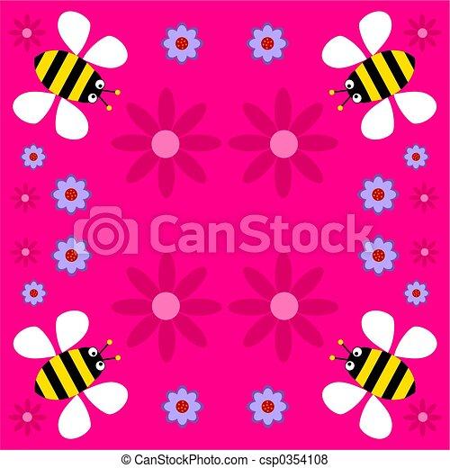 funky retro bees - csp0354108