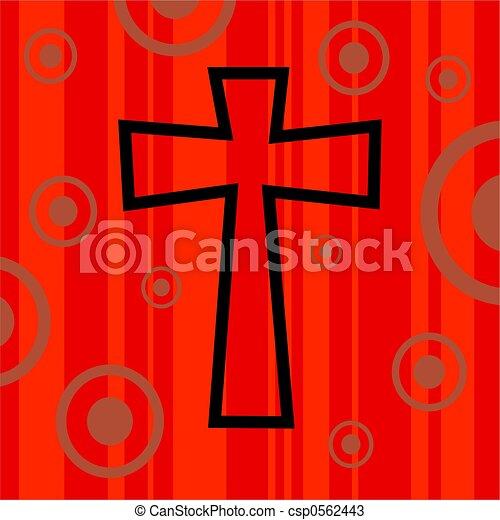 funky, retro, crucifixos - csp0562443
