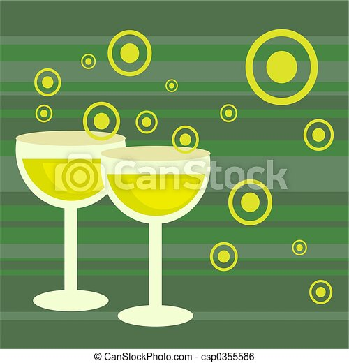 funky retro drinks - csp0355586