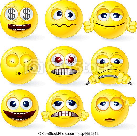 Funky Smilies 1 - csp6659218