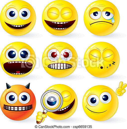 Funky Smilies 4 - csp6659135