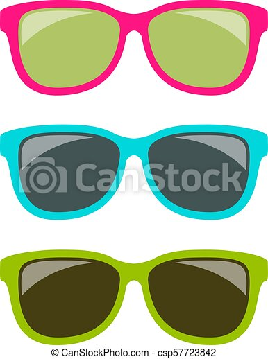 Funky style colorful sun glasses - csp57723842
