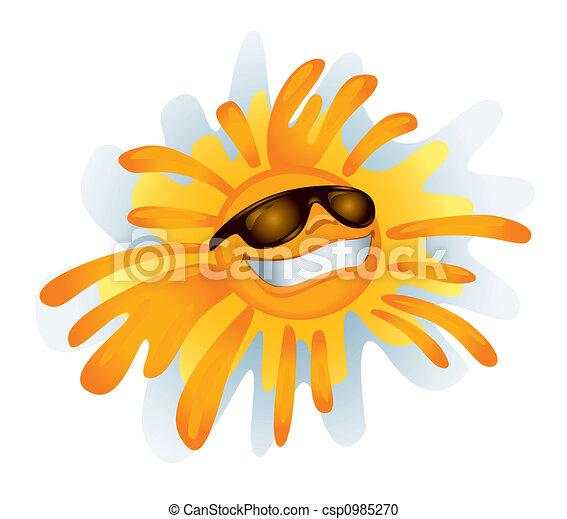 Funky Sun (illustration) - csp0985270