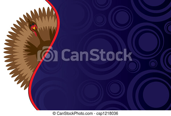 Funky Thanksgiving Background - csp1218036