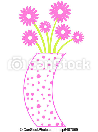 Funky Vase With Flowers
