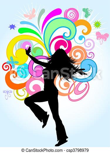 funky, weibliche  - csp3798979