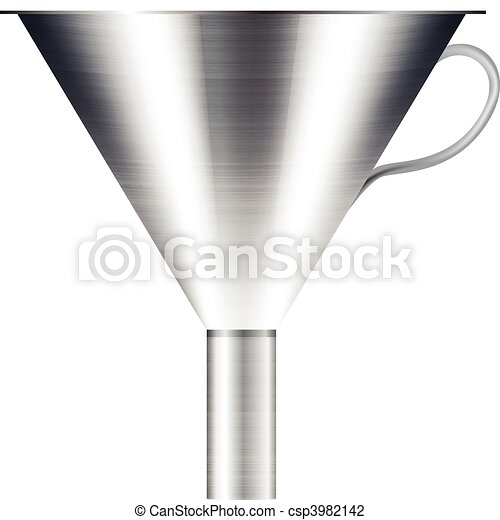 funnel made of stainless steel - csp3982142
