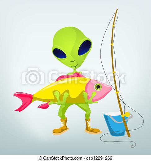 Funny Alien - csp12291269