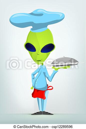 Funny Alien - csp12289596