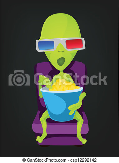 Funny Alien - csp12292142