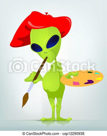 Funny Alien - csp12290938