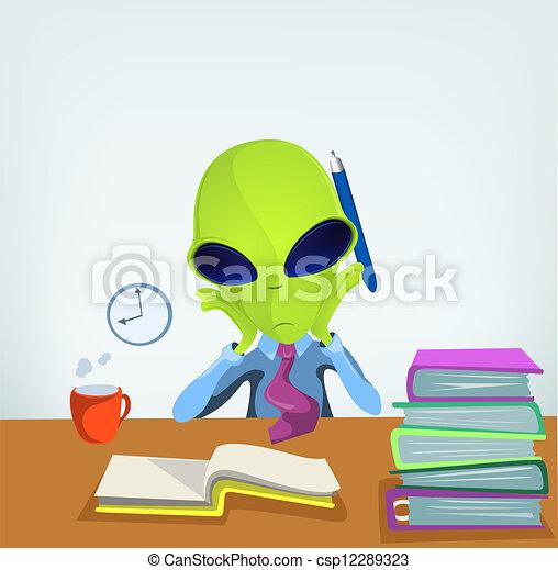 Funny Alien - csp12289323
