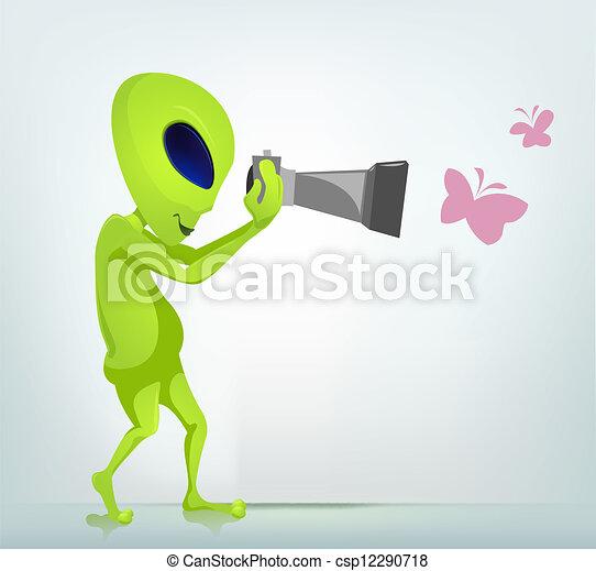 Funny Alien - csp12290718