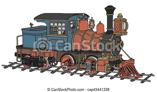Funny american steam locomotive