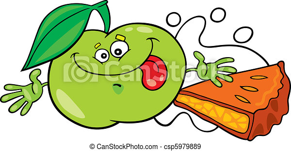funny apple and pie - csp5979889