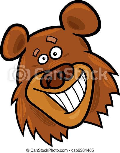 Cartoon illustration of funny bear.