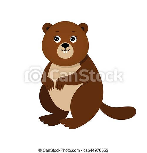 Funny beaver, illustration for children - csp44970553