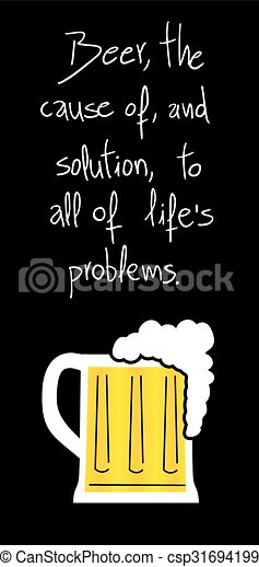 Creative design of funny beer message funny beer message csp31694199 publicscrutiny Image collections