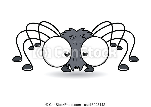 Funny Big Eye Spider Vector - csp16095142