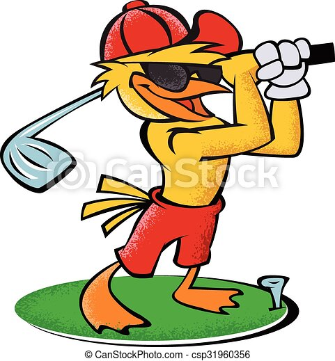 funny bird golf clipart vector search illustration drawings and rh canstockphoto com clipart golf funny funny ladies golf clipart