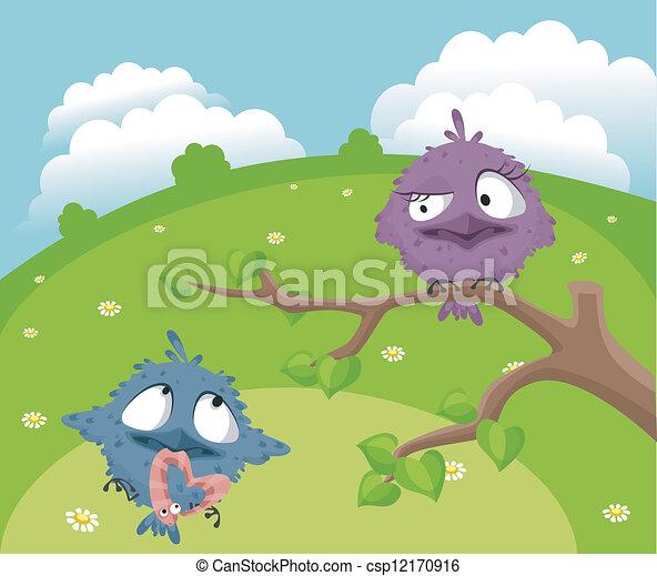 Funny birds - csp12170916
